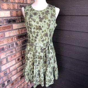 Michael Kors sage green floral dress size L NWT